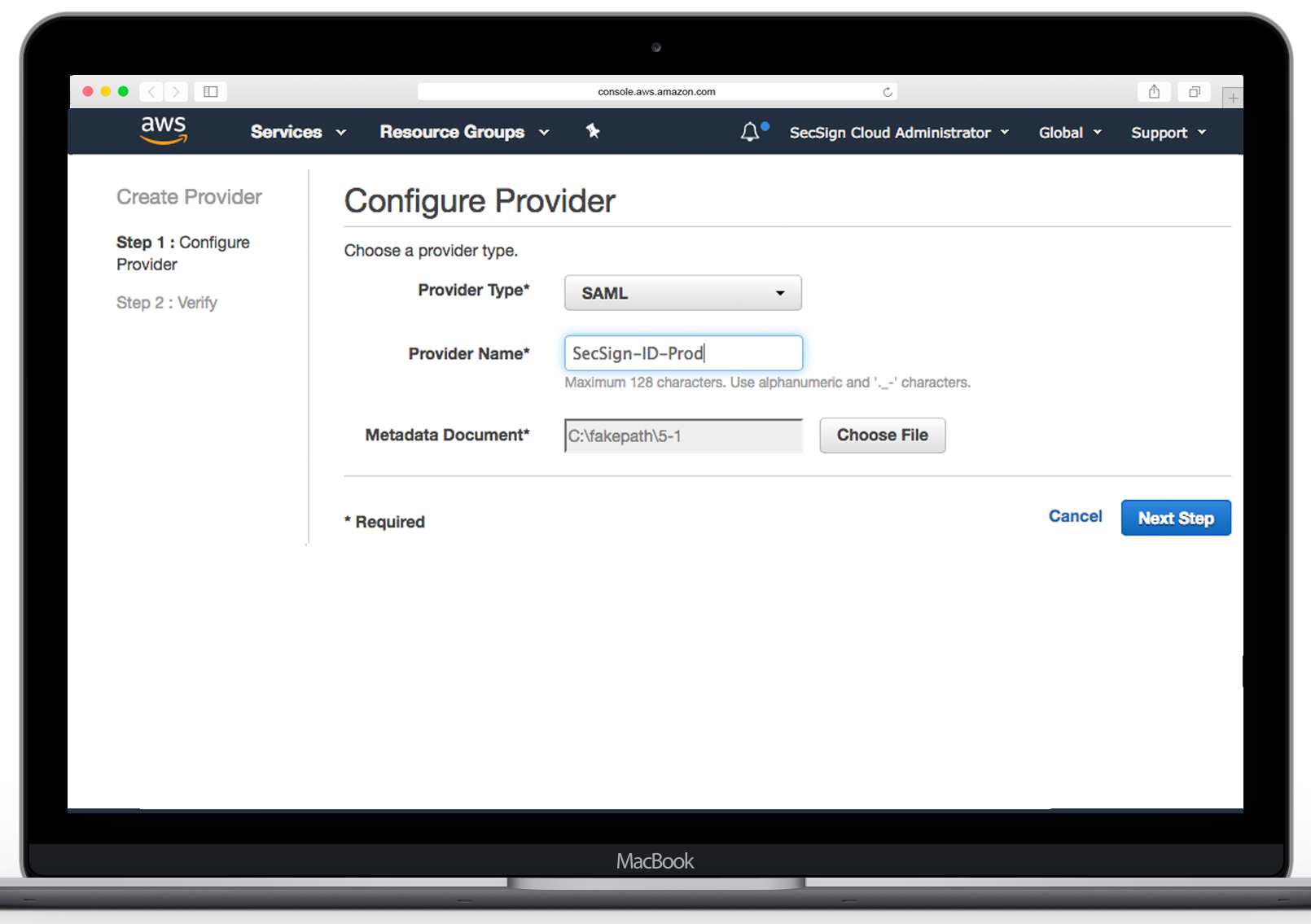SecSign ID for Amazon Web Services (AWS) with SAML | SecSign 2FA