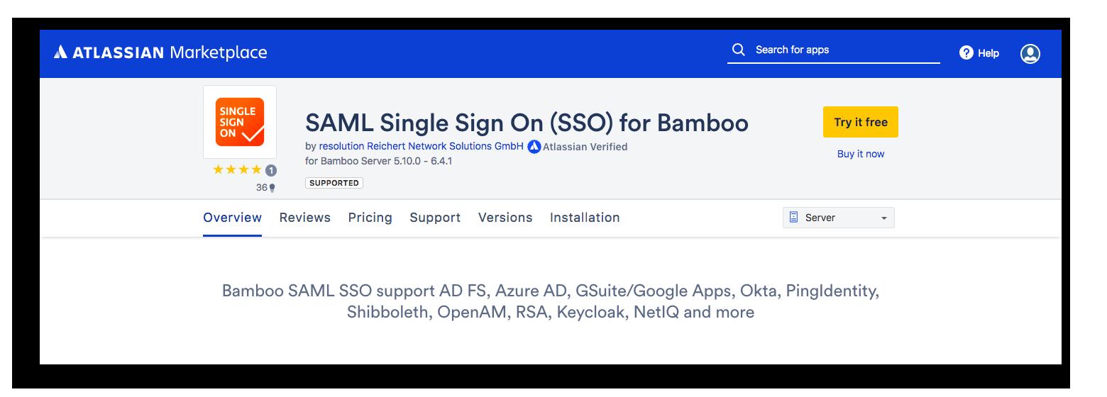 SecSign ID 2FA on-premise Bamboo with SAML | SecSign 2FA