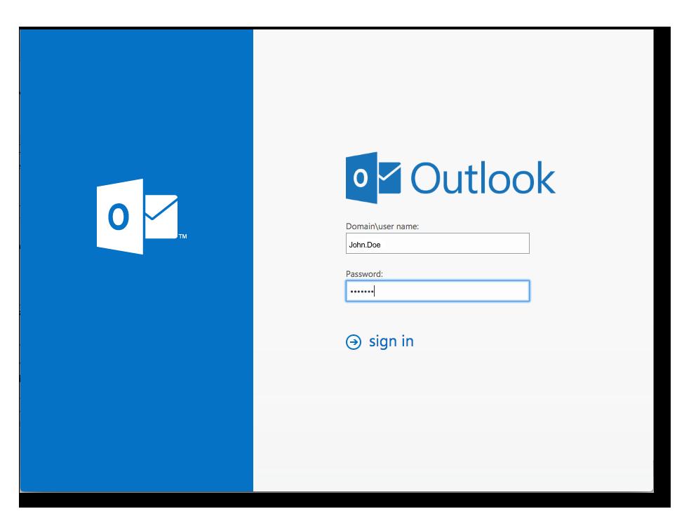 Outlook on the Web (OWA) | SecSign 2FA