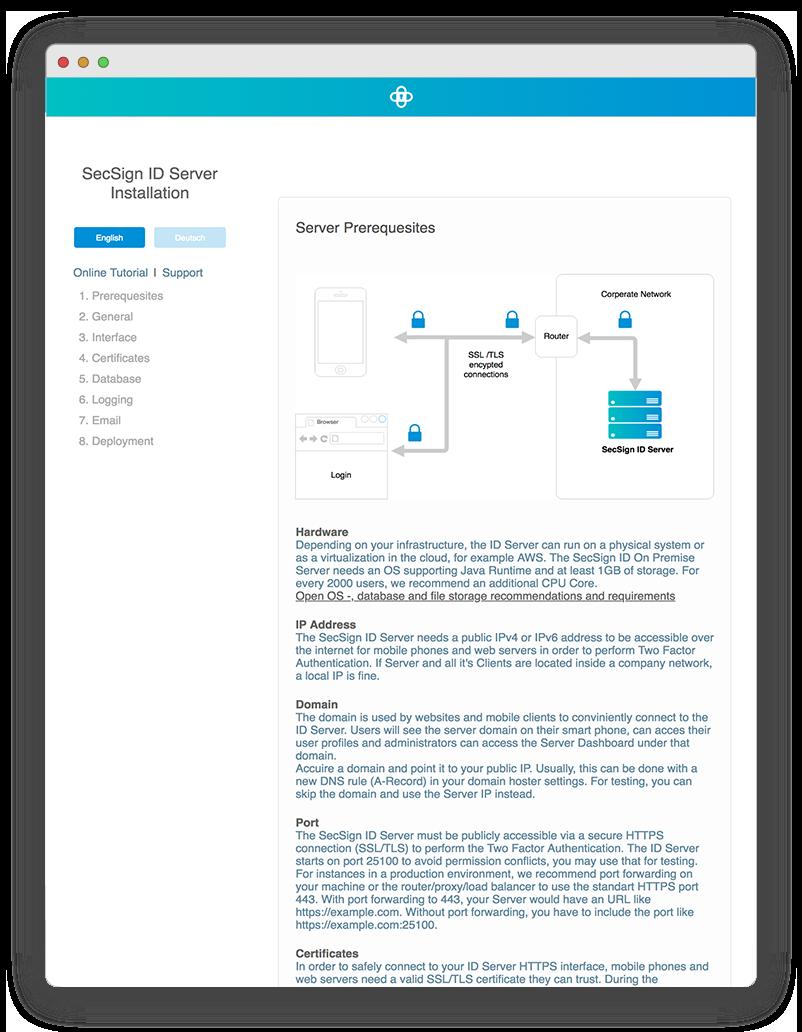 Installation SecSign On-Premise 2FA Server | SecSign 2FA